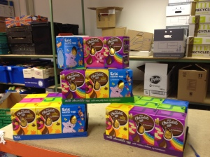 Generous brownie pack gives 35 Easter eggs to the food bank